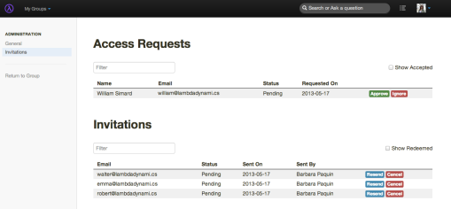 Manage Requests