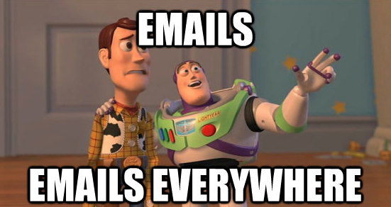 Emails everywhere!